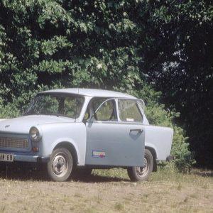 """Der erste Dienstwagen 1991 beim Volotariat bei der """"Märkischen Oderzeitung"""" in Fürstenwalde/Spree"""