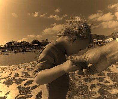Mit meiner Tochter am Strand