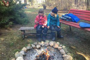 Katharina und Nilli wärmen sich auf